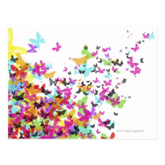 Flying Butterflies Postcard