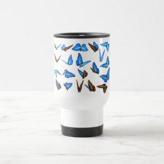 Flying butterflies travel mug