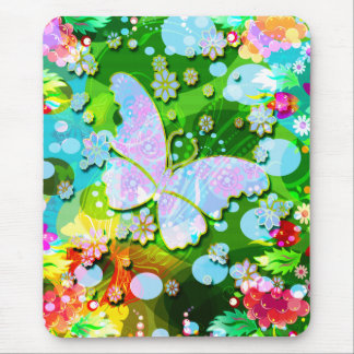 Flying Butterfly Mouse Mat