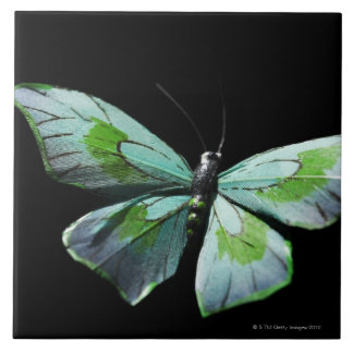 Flying butterfly large square tile