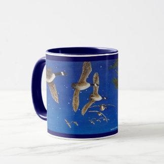 Flying Canada Geese Mug; Canadian Geese in Flight. Mug