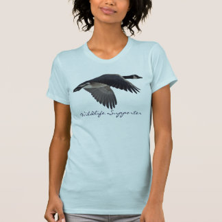 Flying Canada Goose Wildlife Supporter T-Shirt