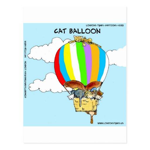 Flying Cats Funny Cartoon Postcards