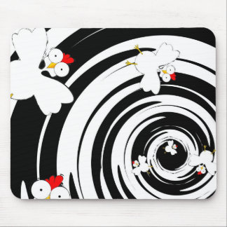 Flying chickens mouse mat