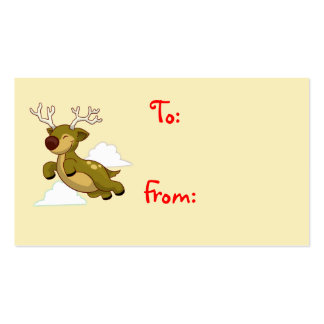 Flying Christmas Reindeer gift card Business Card