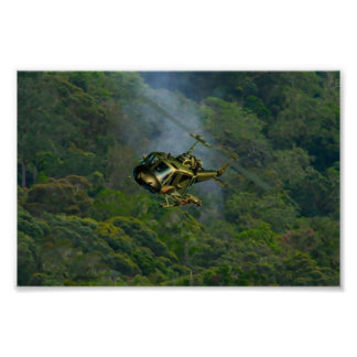 Flying Circus Helicopter Vietnem Jungle Print