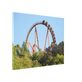 Flying Coaster Canvas Canvas Print