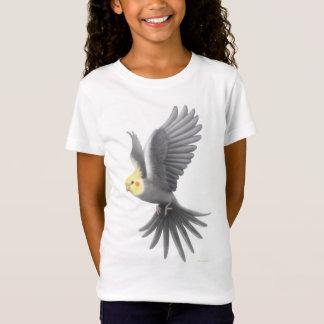 Flying Cockatiel Girls Babydoll Shirt