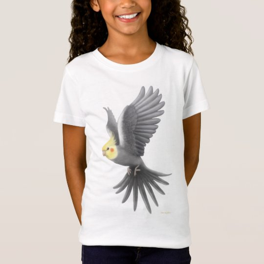 Flying Cockatiel Girls Babydoll Shirt