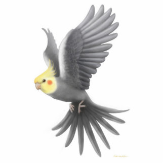 Flying Cockatiel Holiday Ornament Photo Sculpture Decoration