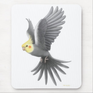 Flying Cockatiel Mousepad