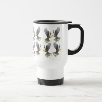Flying Cockatiels Travel Mug