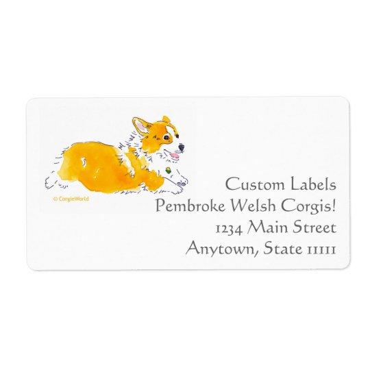 Flying Corgi Custom Labels