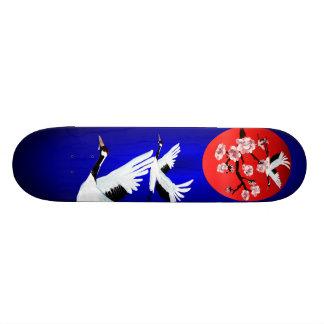 Flying Crane and SunSkateboard Skateboard