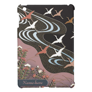 Flying cranes beautiful autumn Japanese pattern Case For The iPad Mini