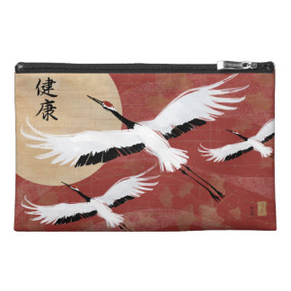 Flying Cranes Cosmetic Travel Bag