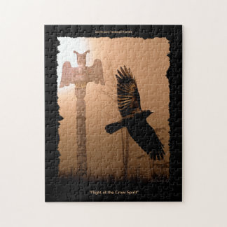 Flying Crow & Totem-Pole Native American Puzzle