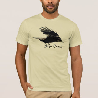 Flying Crow Wildlife Art Shirt