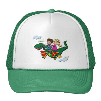 Flying Dino with Kids Mesh Hat