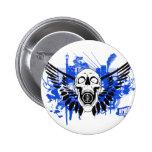 Flying Disc Golf Skull 6 Cm Round Badge