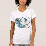 flying dove around the world t-shirt