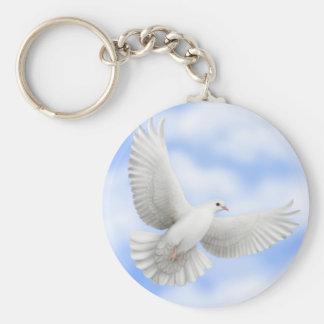 Flying Dove Keychain