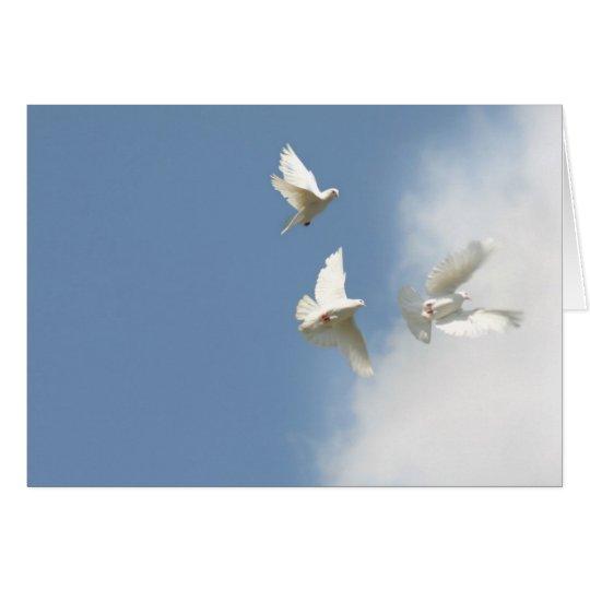 Flying doves card