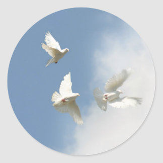 flying doves Sticker