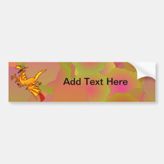 Flying Dragon Bumper Sticker