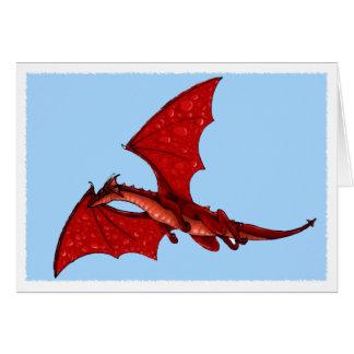 Flying dragon greeting card