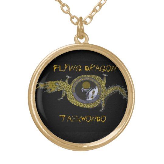 Flying Dragon Tae Kwon Do- Pendant gold