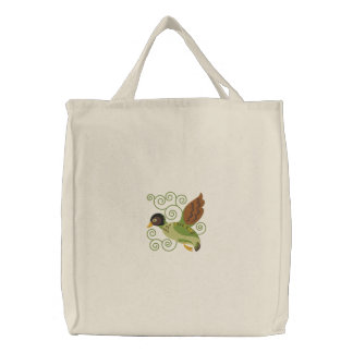Flying Duck Embroidered Tote Bags