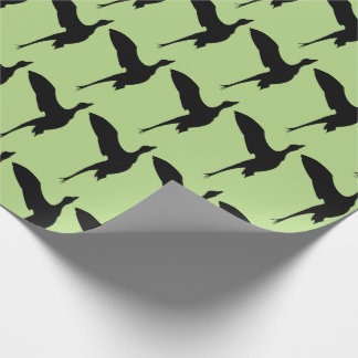 Flying Duck Hunting Themed Wrapping Paper