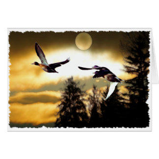 FLYING DUCKS Greeting Cards