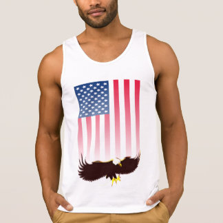Flying Eagle And American Flag