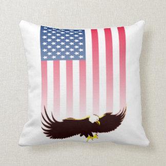 Flying Eagle and American Flag Cushion