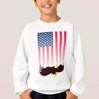 Flying Eagle And American Flag Sweatshirt