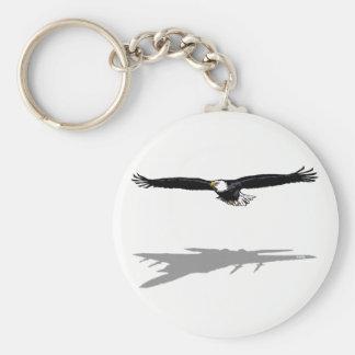 Flying Eagle Basic Round Button Key Ring