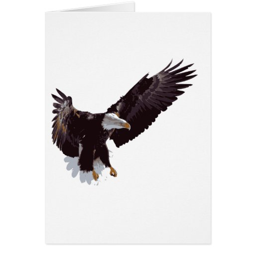 Flying Eagle Greeting Card