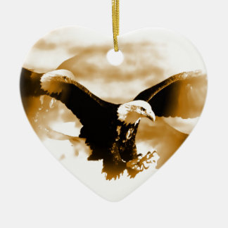 Flying Eagle Ceramic Heart Decoration