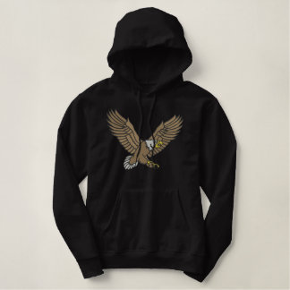 Flying Eagle Embroidered Hoodie