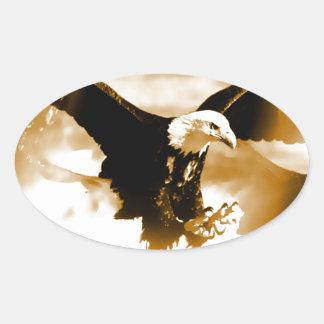 Flying Eagle Oval Sticker