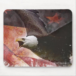 Flying Eagle Patriotic Mouse Pad
