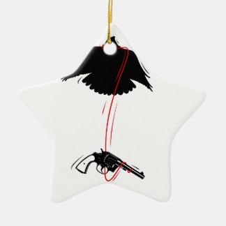 Flying Eagle Pistol Peace Christmas Ornament