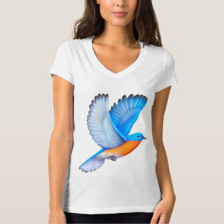 Flying Eastern Bluebird Ladies Jersey T-Shirt