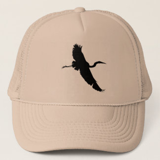 Flying Egret 1 Silhouette Hat