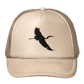 Flying Egret 1 Silhouette Hat