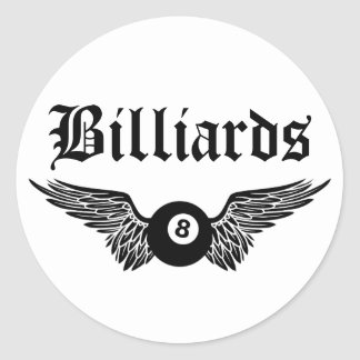 flying eightball billiards classic round sticker