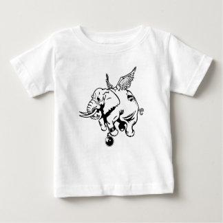 Flying Elephant Baby T-Shirt
