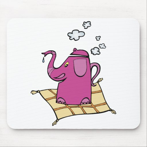 Flying Elephant Tea Kettle Mouse Pads